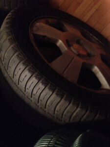 4 Summer Tires Goodyear and 4 Mags