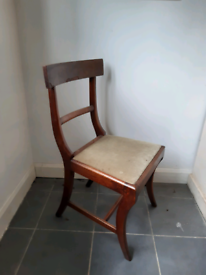 Vintage mahogany dining chairs ×2