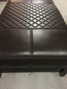 LEATHER OTTOMAN/COFFEE TABLE
