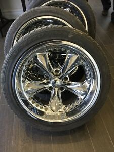 4 mags Foose 18 inch with tires for 1967-1969 Camaro