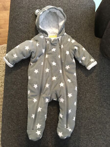 Fleece Snow Suit 3-6 months - never used