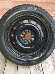 205/55/16 winter tires on rims