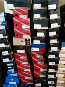 Lots of small sizes for Chucks, adidas, Reebok and Saucony