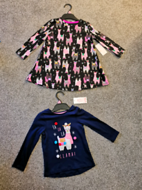 Brand New girls Christmas Llama clothes bundle aged 18-24 months