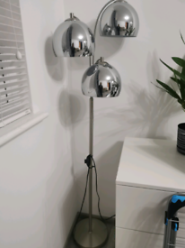 standing silver lamp