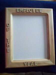 Personalized homemade pine 8x10 frame