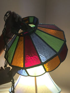 "Antique ""Tiffany"" style light fixture"