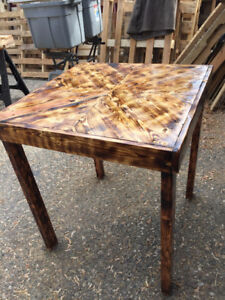 Coffee, end tables. patio tables all made from recycled pallets
