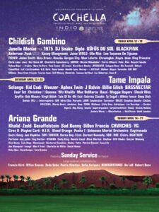 Trading 2 Coachella Festival tickets for a Flight to Californi!!