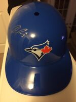 Mint condition signed PompeyToronto blue jays batting helmet
