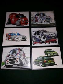 ford cartoon posters rs2000 mexico mk2 cosworth s1 turbo fiesta rs