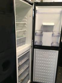 Fridge Freezer, Black Beko