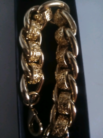 Gold filled luxury bracelet new 8to9inches