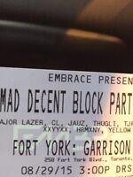 1 Hardcopy MAD DECENT BLOCK PARTY ticket left!