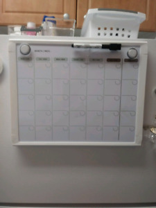 Magnetic Dry Erase Monthly Calendar