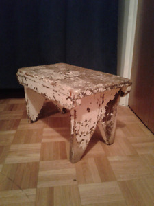 Vintage Primitive 1920's Country Footstool / Bench