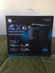 "Mediasonic HFJ2-SU2 4 Bay 3.5"" SATA HDD USB2/eSATA Enclosure"