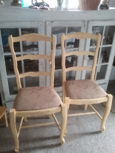 Pair of French Country Retro side chairs