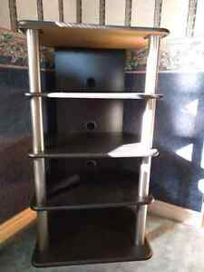 5 Tier Black and Grey Shelf Kitchener / Waterloo Kitchener Area image 1