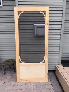 """Exterior Wooden Screen Door - 36"""" x 82"""""""