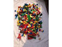 Big bag of Lego Duplo building blocks