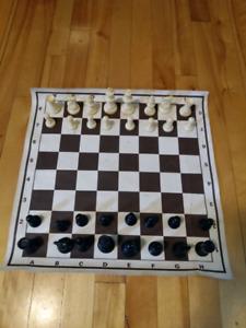 Tapis jeu d'échec professionnel
