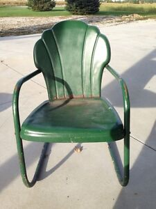 Vintage Outdoor Steel Chair (days gone by)! London Ontario image 1