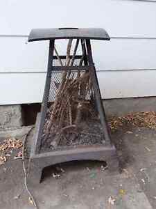 Outdoor portable metal fireplace