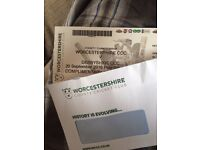 4 X Adult tickets Worcestershire vs Derbyshire day 1