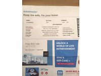 Tennents Vital Red Hot Chilli peppers ticket