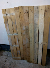 Pallet boards 1.2m long Ready to be reused.