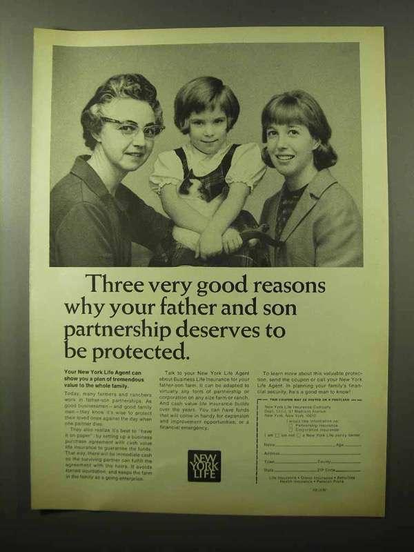 1966 New York Life Ad - Three Very Good Reasons