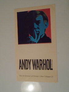 ANDY WARHOL RETROSPECTIVE ART INSTITUTE OF CHICAGO 1989 SCARCE