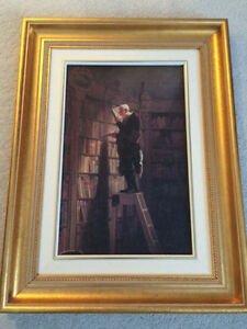 Framed art - Bookworm print