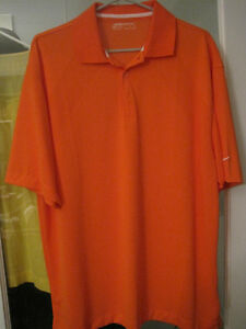 Brand New Nike Dri Fit Orange Polo Golf Shirt - Size Large