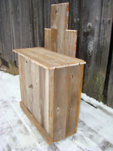 rustic barn board sideboard