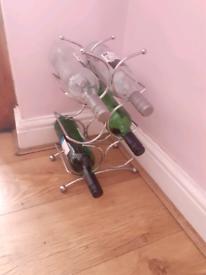 Small Chrome Wine Rack