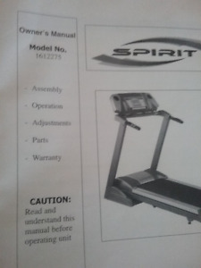 SPIRIT TREADMILL ***ALMOST NEW HARDLY USED***