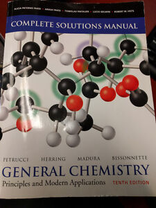General Chemistry 10th edition Complete Solutions Manual