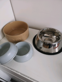 Collection of dog bowls