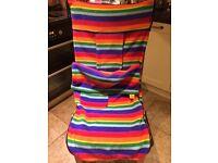Buggy Snuggle Fleece Footmuff - Rainbow Colour