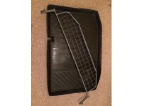 Ford Fiesta dog guard 2008 onwards and custom rubber boot mat