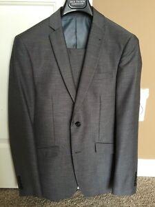 Men's grey suit.