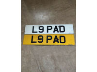 Private Number Plate For Sale L9 PAD Sensible Offers Invited No Silly Offers