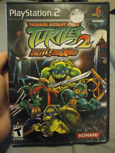 TEENAGE MUTANT NINJA TURTLES 2 BATTLENEXUS PS2 GAME