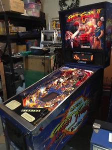 STTREET FIGHTER 2 PINBALL MACHINE GOTTLIEB ARCADE GAME