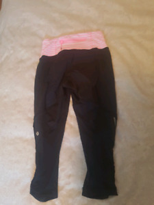 Lululemon size 2 capris and shorts