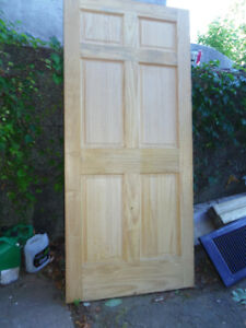 6 Panel Solid Pine Doors - 36x80 -  Qty 3 - $45 each