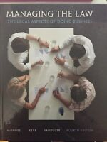 (Brand New) LAW 122- Managing The Law 4th Edition