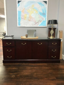 NEW PRICE!! PREMIUM Paoli Office Set (Desk and Credenza)